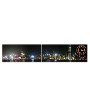 Модульные настенные часы Огни Города
