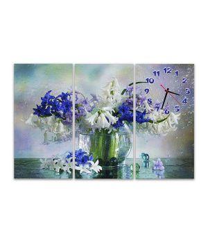 Модульные настенные часы Цветы в вазе