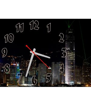 Часы Ночной Мегаполис, 30х40 см
