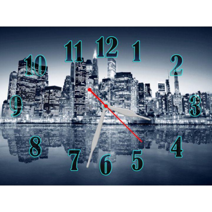 Часы Завораживающий Город, 30х40 см