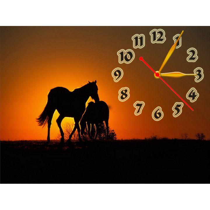 Годинник Чарівний Захід, 30х40 см