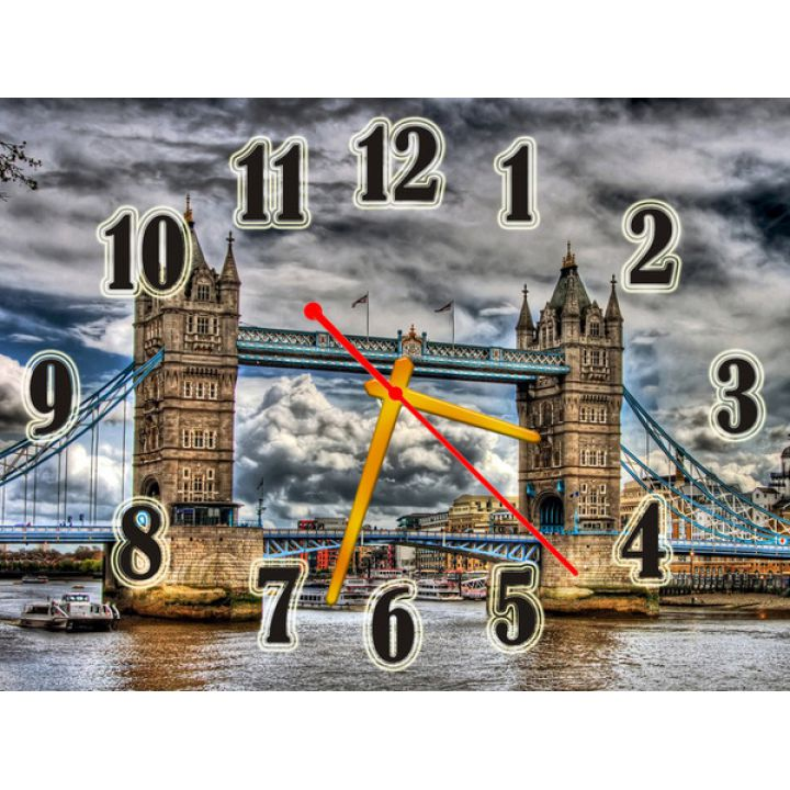 Часы Мост через Реку, 30х40 см