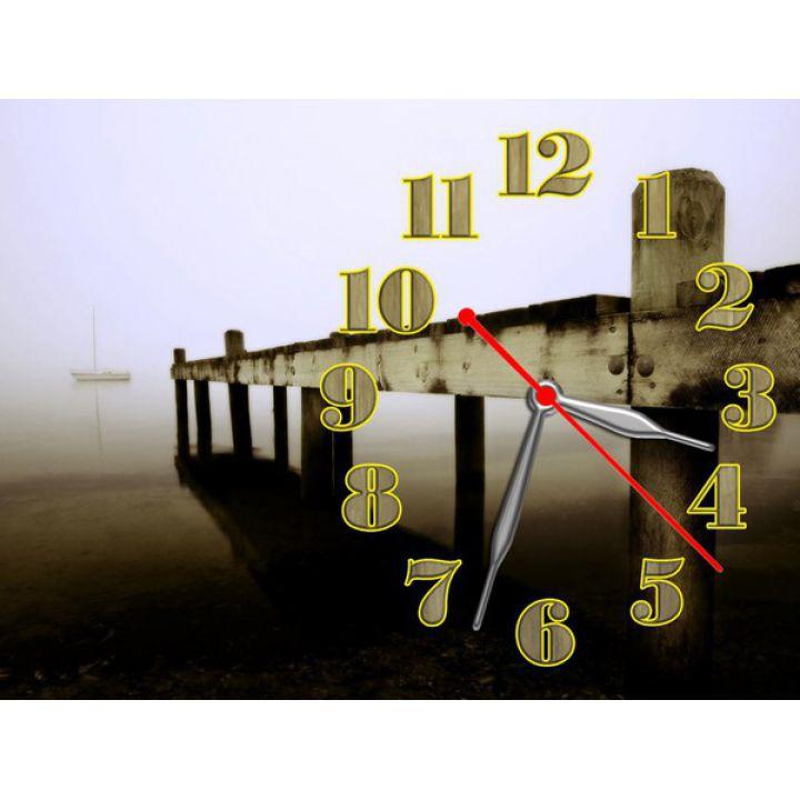 Часы Речная Панорама, 30х40 см