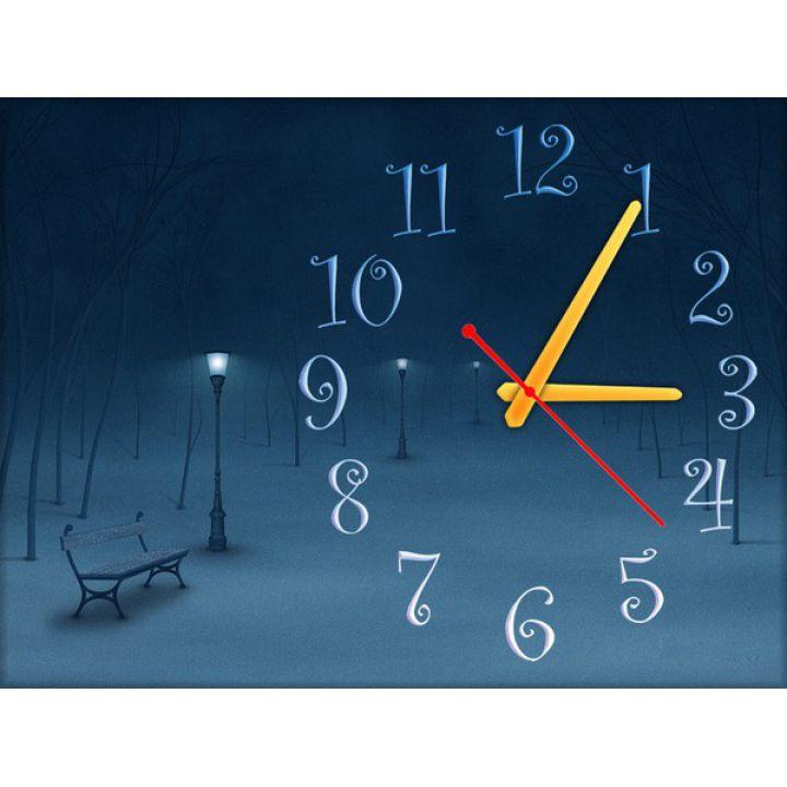 Часы Зимний Вечер, 30х40 см