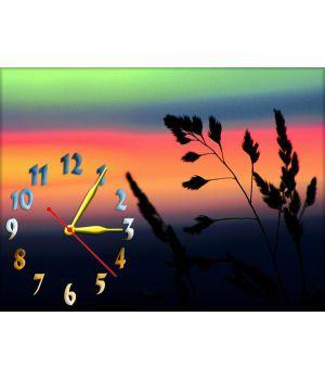 Часы Багровый Закат, 30х40 см