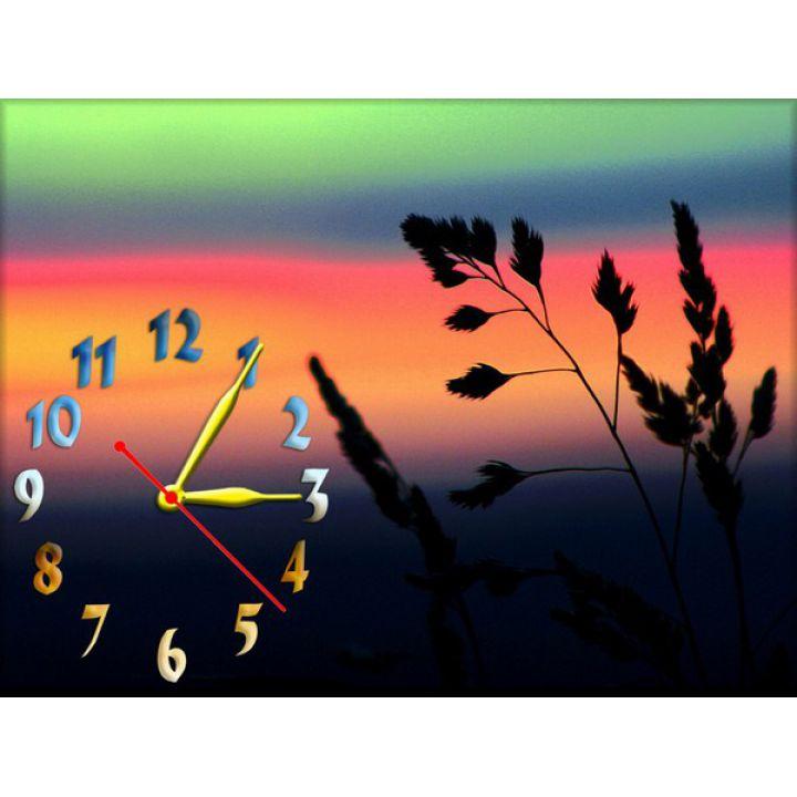 Годинник на стіну Багряний Захід, 30х40 см