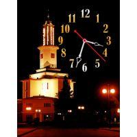 Часы Озаряемый Огоньками, 30х40 см