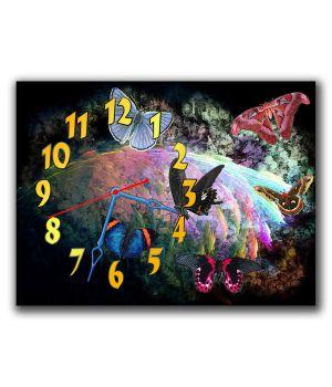Часы Эффектные Бабочки, 30х40 см