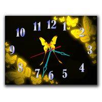 Годинник Жовті Метелики, 30х40 см