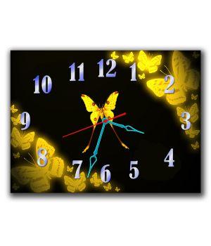 Часы Желтые Бабочки, 30х40 см