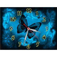 Годинник Чорний Метелик, 30х40 см