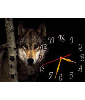 Часы Одинокий Волк, 30х40 см