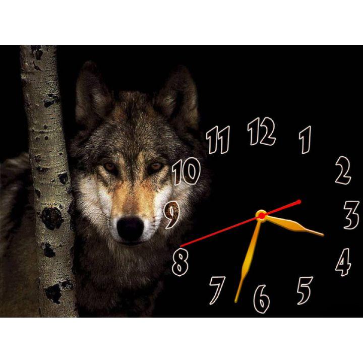 Годинник Самотній Вовк, 30х40 см