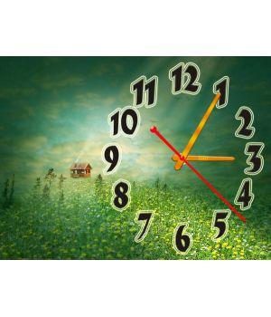 Часы Избушка на Опушке, 30х40 см