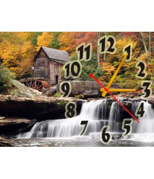 Часы Водопад, 30х40 см