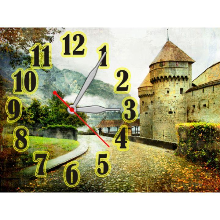 Годинник Романтичний Замок, 30х40 см