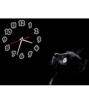 Часы Черная Кошка