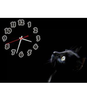Часы Черная Кошка, 30х40 см