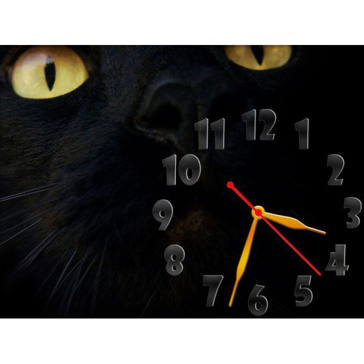 Часы Черный Кот, 30х40 см
