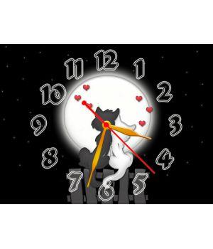 Часы Влюбленные Котики