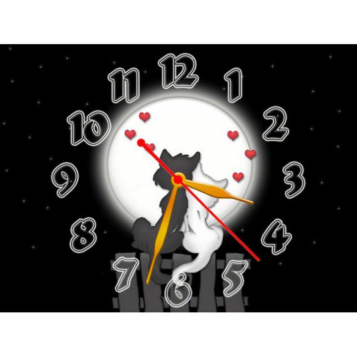 Часы Влюбленные Котики, 30х40 см