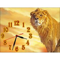 Годинник на стіну Гордий Лев, 30х40 см