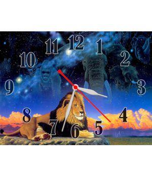 Часы Царь Зверей, 30х40 см