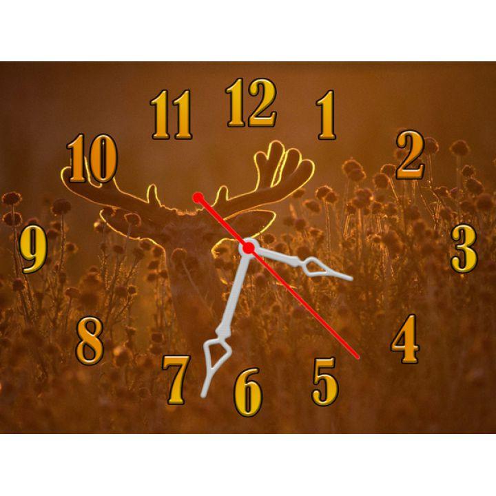 Годинник Олень, 30х40 см