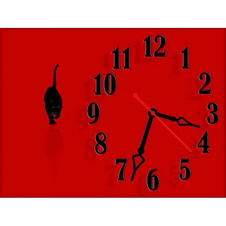 Часы Хищная Кошка, 30х40 см