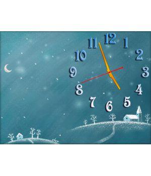Часы Снежная Зимушка