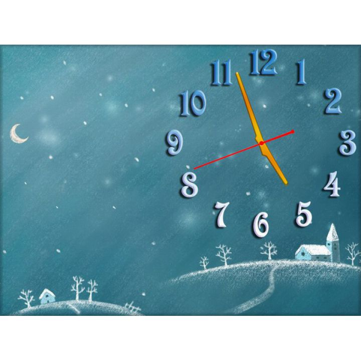 Часы Снежная Зимушка, 30х40 см