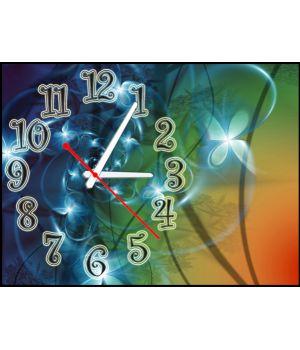 Часы Сияющие Цветы, 30х40 см