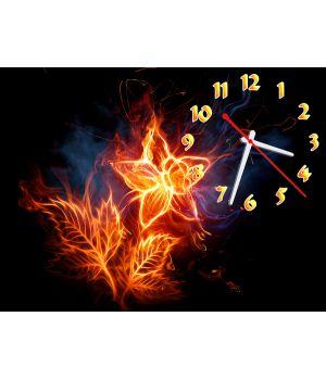 Часы Огненный Цветок