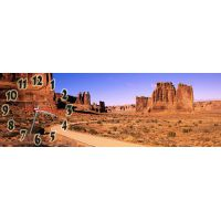 Часы настенные Пустынный Городок, 30х90 см