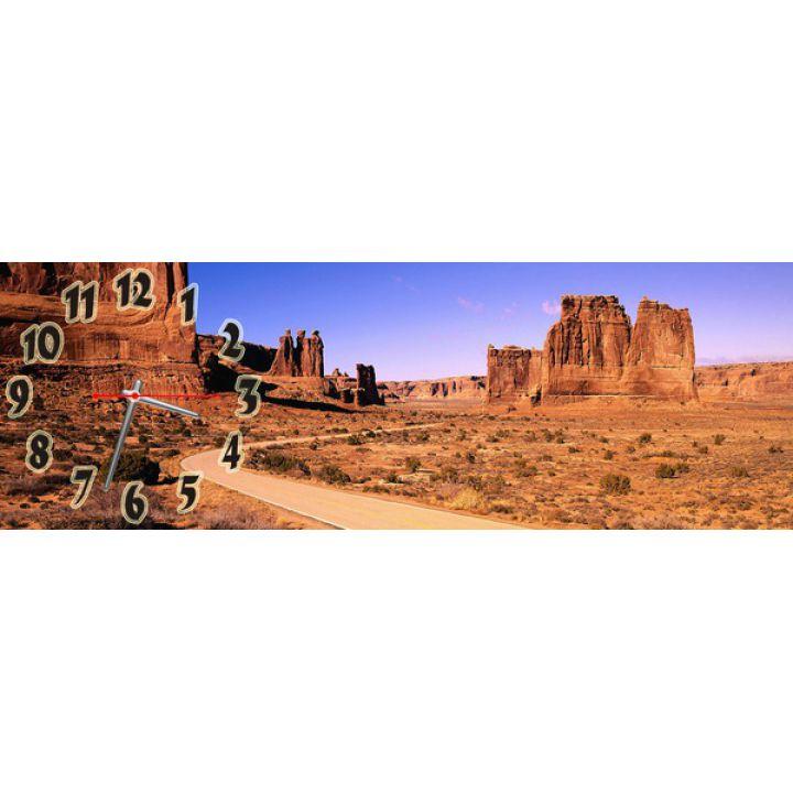 Часы настенные прямоугольные Пустынный Городок