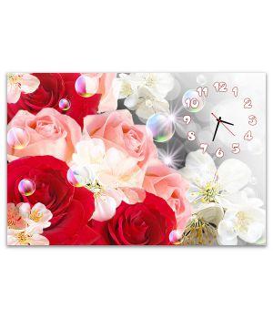 Часы настенные Яркие Цветы 554412-19