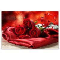 Часы настенные Красные розы