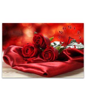 Часы настенные Красные розы, 60x90 см