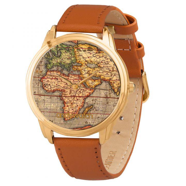 Женские наручные часы AW 023-2 Карта мира