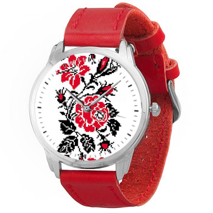 Женские наручные часы AW 078-3 Цветы вишиванки
