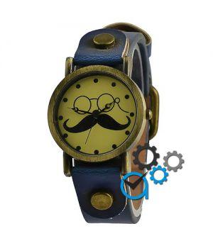 Fashion Yiligi Mustache Blue-Bronze