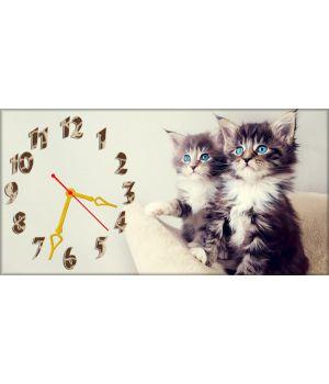 Детские настенные часы Котята