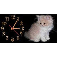 Детские настенные часы Котенок, 30х60 см