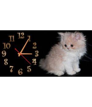 Детские настенные часы Котенок