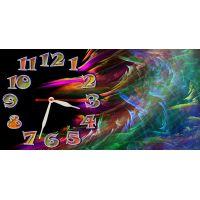 Детские настенные часы Цветные Волны, 30х60 см