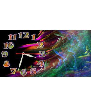 Детские настенные часы Цветные Волны