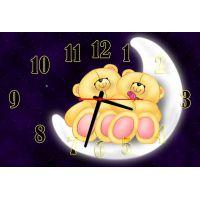 Детские настенные часы Парочка мишек