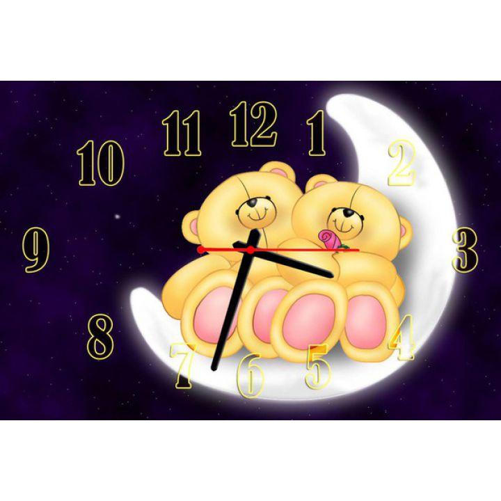 Детские часы для девочек Парочка мишек