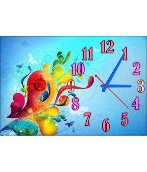 Детские настенные часы Узорчики