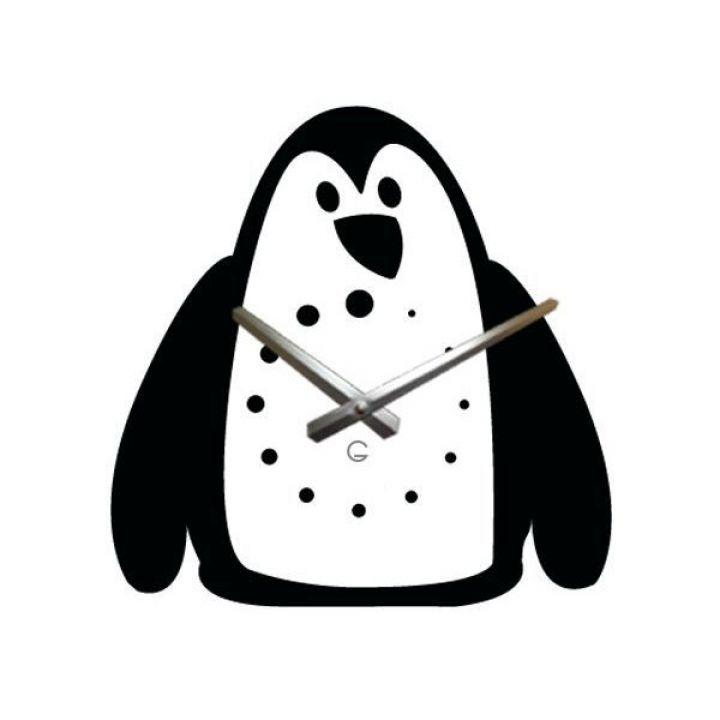 Настенные дизайнерские часы Glozis Penguin